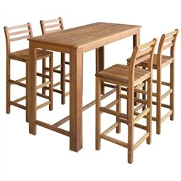 Conjunto mesa e cadeiras de bar 5 pcs madeira de acácia maciça por 745.14€ PORTES INCLUÍDOS