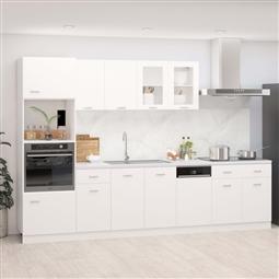 7 pcs conjunto armários de cozinha contraplacado branco por 895.62€ PORTES INCLUÍDOS