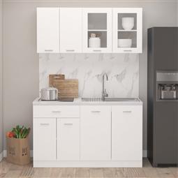 4 pcs conjunto armários de cozinha contraplacado branco por 458.70€ PORTES INCLUÍDOS