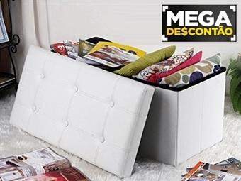 MEGA DESCONTÃO: Puff Baú Deluxe com 7 Cores à escolha e Arrumação Interior por 39€. PORTES INCLUIDOS.