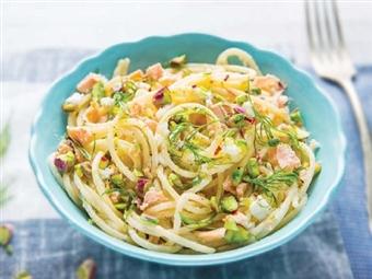 Coleção Receitas Facílimo: Esparguete com tiras de salmão. Faça já download do eBook e áudio.