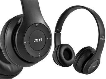 Auscultadores Sem Fios com Microfone, Rádio FM, Bluetooth, USB e Micro SD desde 11€. PORTES INCLUIDOS.