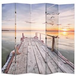 Biombo dobrável com estampa de lago 200x170 cm por 178.20€ PORTES INCLUÍDOS