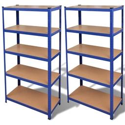 Estante de armazenamento em azul 2 peças por 174.90€ PORTES INCLUÍDOS
