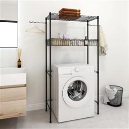 Estante de 2 prateleiras p/ lavandaria 75x35x150 cm prateado por 93.06€ PORTES INCLUÍDOS
