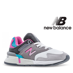 New Balance® Sapatilhas Criança Running Grey/Pink - 30 por 38.94€ PORTES INCLUÍDOS