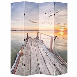 Biombo dobrável com estampa de lago 160x170 cm por 153.12€ PORTES INCLUÍDOS