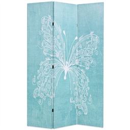 Biombo dobrável com estampa de borboleta azul 120x170 cm por 120.78€ PORTES INCLUÍDOS