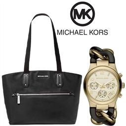 PACK Michael Kors®Mala e Relógio por 214.50€ PORTES INCLUÍDOS