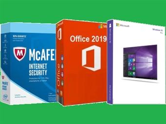 Microsoft Office Home, Microsoft Windows 10 Pro ou McAfee Internet Security desde 8€. ENVIO INCLUÍDO.