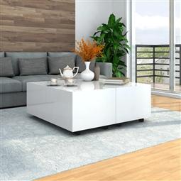 Mesa de centro 100x100x35 cm branco brilhante por 306.90€ PORTES INCLUÍDOS