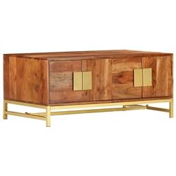 Mesa de centro 90x55x40 cm madeira de acácia maciça por 277.20€ PORTES INCLUÍDOS