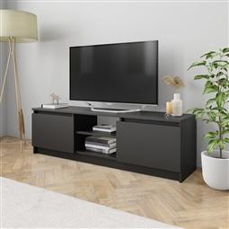 Móvel de TV 120x30x35,5 cm contraplacado preto por 94.38€ PORTES INCLUÍDOS
