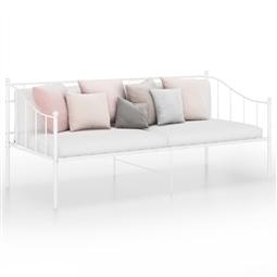 Sofá-cama 90x200 cm metal branco por 188.76€ PORTES INCLUÍDOS
