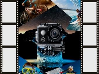 Câmara Desportiva HD com Acessórios por 16€. Resistente à água, para gravar todos os seus momentos de aventura e atividades. ENVIO IMEDIATO. PORTES INCLUÍDOS.