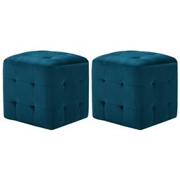 Mesas de cabeceira 2 pcs 30x30x30 cm veludo azul por 106.92€ PORTES INCLUÍDOS