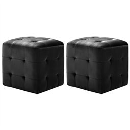 Mesas de cabeceira 2 pcs 30x30x30 cm veludo preto por 106.92€ PORTES INCLUÍDOS
