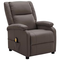 Cadeira de massagens reclinável couro artificial castanho por 343.86€ PORTES INCLUÍDOS