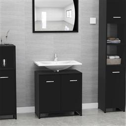 Armário casa de banho 60x33x58 cm contraplacado preto por 92.40€ PORTES INCLUÍDOS