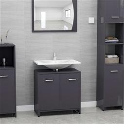 Armário casa de banho 60x33x58 cm contrapl. cinzento brilhante por 77.88€ PORTES INCLUÍDOS