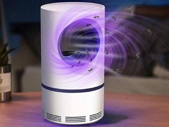 Lâmpada Anti-Mosquitos por Sucção e Luz LED-UV por 14€. Inofensivo e Inodoro. PORTES INCLUÍDOS.