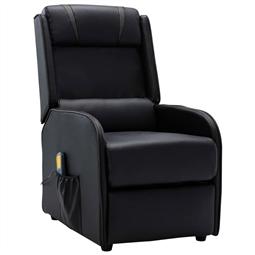 Poltrona de massagens reclinável couro artificial preto e cinza por 275.88€ PORTES INCLUÍDOS