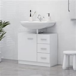 Armário de lavatório 63x30x54 cm contraplacado branco por 109.56€ PORTES INCLUÍDOS
