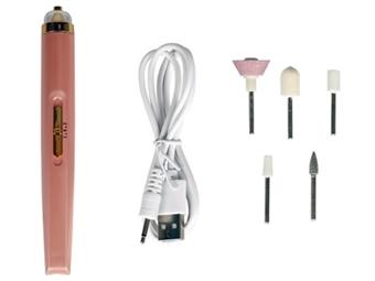 Conjunto de Manicure e Pedicure sem fio com 5 Cabeças e Bateria Embutida por 22€. Pequeno e Portátil!  PORTES INCLUÍDOS!