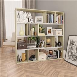 Divisória/estante 110x24x110 cm contrap. branco/carvalho sonoma por 127.38€ PORTES INCLUÍDOS