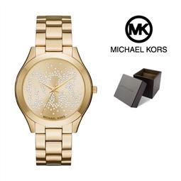 Relógio Michael Kors® Slim Runway Logo Gold | 5ATM por 188.10€ PORTES INCLUÍDOS