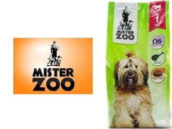 Ração Seca para Cães Adultos Pequenos e Médios – Saco Mister Zoo de 1 Kg desde 4€. Rico em Ômega 6. Excelente Qualidade Nutricional da Carne. PORTES INCLUÍDOS.