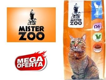 Ração Seca para Gatos – Saco Mister Zoo de 1 ou 2 Kg desde 4€. Rico em Ômega 6. Inclui Taurina que é Fundamental na Dieta Felina. PORTES INCLUÍDOS.