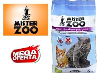 Areia Absorvente 100% Natural para Gatos – Saco Mister Zoo de 5 Kg por 5.50€. Grande capacidade de absorção. Evita maus odores. ENVIO IMEDIATO. PORTES INCLUÍDOS.