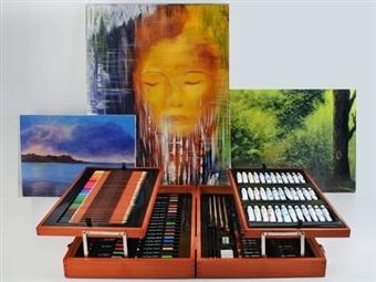 Conjunto de Pintura e Desenho com Mala e 174 Peças por 59€. PORTES INCLUIDOS.