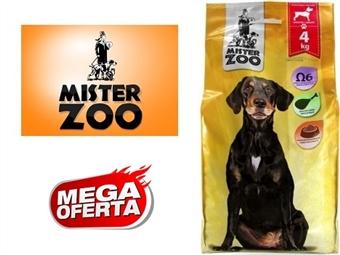 Ração Seca para Cães Adultos Médios e Grandes – Saco Mister Zoo de 4 Kg por 9€. Rico em Ômega 6. Excelente Qualidade Nutricional da Carne. ENVIO IMEDIATO. PORTES INCLUÍDOS.