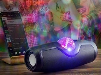 Altifalante Portátil Sem Fios com Bola de Discoteca, Bluetooth, Rádio FM, USB e Micro SD por 43€. VER VIDEO. PORTES INCLUIDOS.