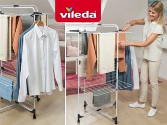 Estendal Torre Modular de 3 Níveis Ajustável da VILEDA que permite estender até 33 m de roupa por 30€. PORTES INCLUIDOS.