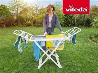 Estendal Solar da VILEDA. Ideal para Uso Exterior por 33€. Permite estender até 20 m de roupa. PORTES INCLUIDOS.