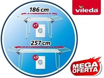 MEGA OFERTA: Estendal Extensível Infinity da VILEDA por 53€. Permite estender até 27 m de roupa. PORTES INCLUIDOS.