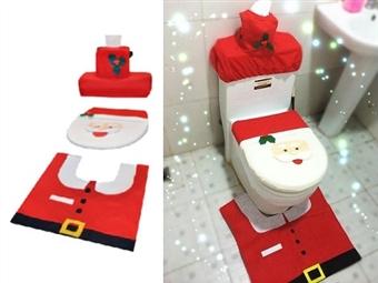 Conjunto de Natal para WC por 11€. O ambiente festivo que se vive nesta quadra chegou ao seu WC. ENVIO IMEDIATO. PORTES INCLUÍDOS.