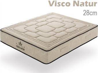 Colchão Viscoelástico VISCO NATUR de Casal ou Solteiro com 28cm de Altura e Núcleo HR desde 194€. PORTES INCLUÍDOS.