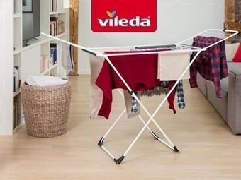 Estendal Universal da VILEDA por 26€. Permite estender até 18 m de roupa. PORTES INCLUIDOS.