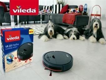 Robot Aspirador VR201 PetPro da VILEDA com Carregador Automático por 199€. VER VIDEO. PORTES INCLUIDOS.