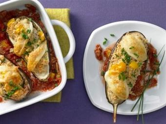 Beringelas Recheadas. Uma opção para inovar nas refeições principais.