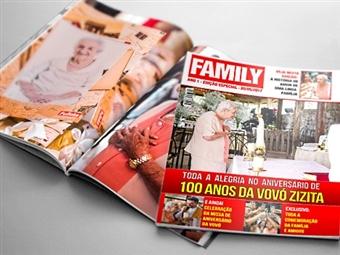 Crie a Sua Própria Revista de 20 Páginas e Capa Personalizada com Fotografias, Imagens ou Frases Preferidas por 6€.