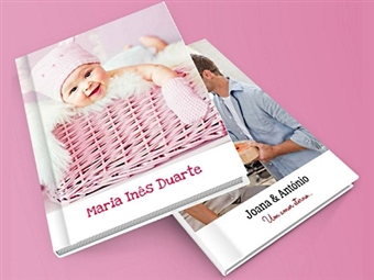 Álbum Fotográfico Personalizado de 20x15cm com 24 Páginas e Capa Dura por 10.99€. Guarde os Melhores Momentos num Álbum 100% Personalizado por Si!