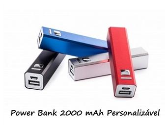 Power Bank 2000 mAh Personalizado com Gravação a Laser: Carrega Smartphones ou Tablets por USB por 9.90€. Um toque pessoal!