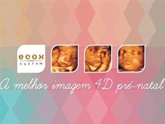Sessão Contemplação Sound na ECOX4D. Inclui DVD com o Vídeo do bebé + CD com Todas as Fotos por 91€.