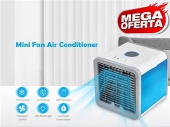 MEGA OFERTA: Mini Climatizador LED Multifunções por 20€. Cria um Ambiente Fresco e Limpo. ENVIO IMEDIATO. PORTES INCLUIDOS.