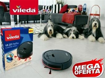MEGA OFERTA: Robot Aspirador VR201 PetPro da VILEDA com Carregador Automático por 179€. VER VIDEO. PORTES INCLUIDOS.